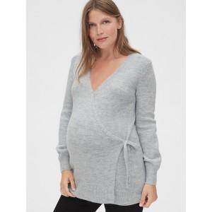 Maternity Side-Tie Wrap Sweater