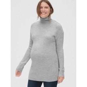Maternity Cozy Funnel-Neck Tunic Sweater