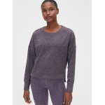 GapFit Brushed Tech Jersey Crewneck Sweatshirt