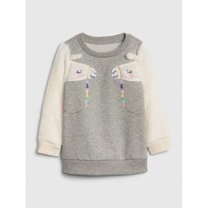 Toddler Llama 3D Graphic Sweatshirt