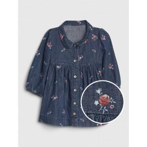 Baby Floral Denim Dress
