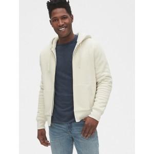 Vintage Soft Sherpa-Lined Full-Zip Hoodie