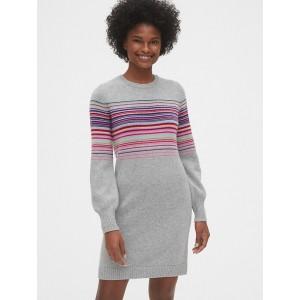 Wool-Blend Crazy Stripe Sweater Dress