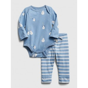 Baby Snowman Bodysuit Set