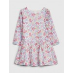 Toddler Floral Drop-Waist Dress