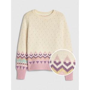 Kids Geometric Pattern Sweater