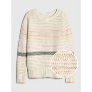 Kids Metallic Stripe Sweater