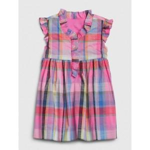 Baby Plaid Ruffle Dress