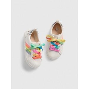 Toddler Glitter Rainbow Stripe Sneakers