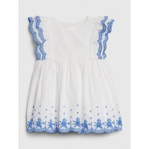Baby Eyelet Flutter Dress