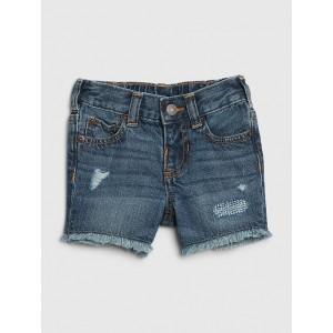 Baby Destructed Denim Shorts