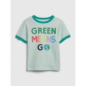 Toddler Short Sleeve Earth Day Ringer T-Shirt