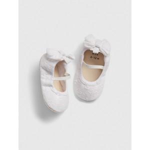Baby Bow Eyelet Ballet Flats