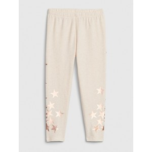 Kids Metallic Star Capri Leggings in Stretch Jersey
