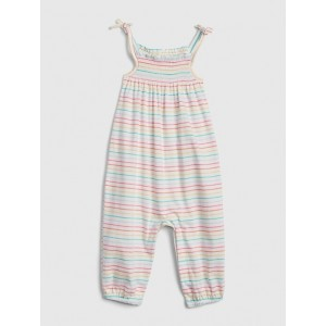 Baby Organic Cotton Rainbow Stripe Romper