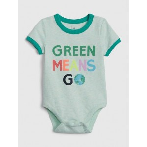 Baby Organic Cotton Go Green Bodysuit