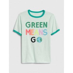 Kids Short Sleeve Earth Day Ringer T-Shirt