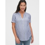 Maternity Button-Down Shirt in Rayon