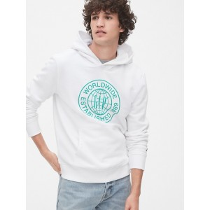 Graphic Pullover Hoodie in French Terry