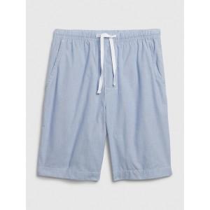 Pajama Shorts in Poplin