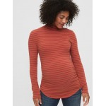 Maternity Funnel-Neck Feather T-Shirt