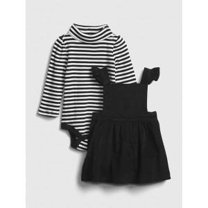 Baby Velvet Skirtall Outfit Set