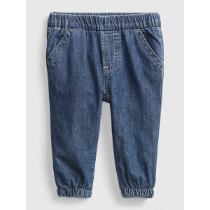 Baby Pull-On Jersey Lined Denim Joggers