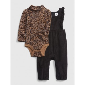 Baby Corduroy One-Piece Outfit Set