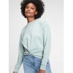 Twist-Front Crewneck Sweatshirt