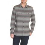 Print two-pocket twill shirt