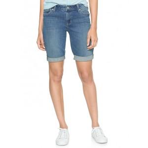 Mid Rise 10&#34 Bermuda Denim Shorts
