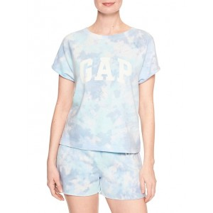 Tie-Dye Logo Short Sleeve Sweatshirt