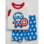 Babygap &#124 Marvel&#169 Capitan America Short Pajama Set