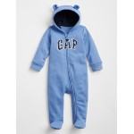 Bear Arch Logo Footed One-Piece