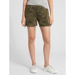 Mid Rise 5&#34 Camo Shorts