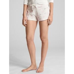 Print Shorts in Cotton-Modal