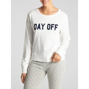 Graphic Sleep Pullover Sweatshirt