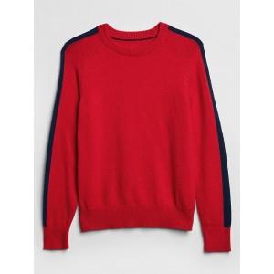 Intarsia Graphic Crewneck Sweater