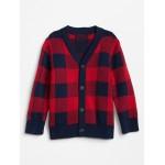 Buffalo Plaid Cardigan Sweater