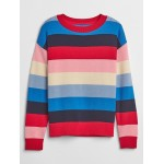 Stripe Drop-Shoulder Crewneck Sweater