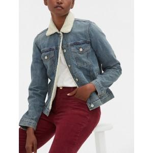 Icon Sherpa-Collar Denim Jacket