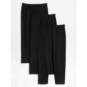Kids Crop Leggings in Stretch Jersey (3-Pack)