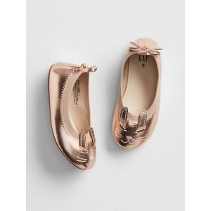 babyGap Bunny Metallic Ballet Flats