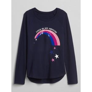 Flippy Sequin Raglan T-Shirt