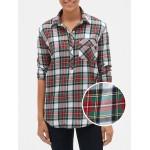 Plaid Popover Boyfriend Shirt