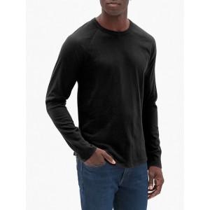 Vintage Soft Raglan Long Sleeve Crewneck T-Shirt
