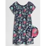 Floral Raglan Short Sleeve Dress