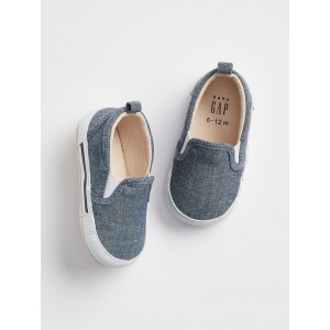 Baby Chambray Slip-On Sneakers