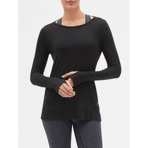 GapFit Open-Back Long-Sleeve T-Shirt