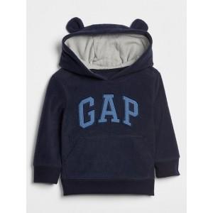 Logo Hoodie Sweatshirt in Fleece